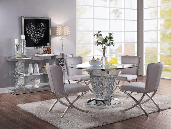 Noralie Gray Modern Dinette Set