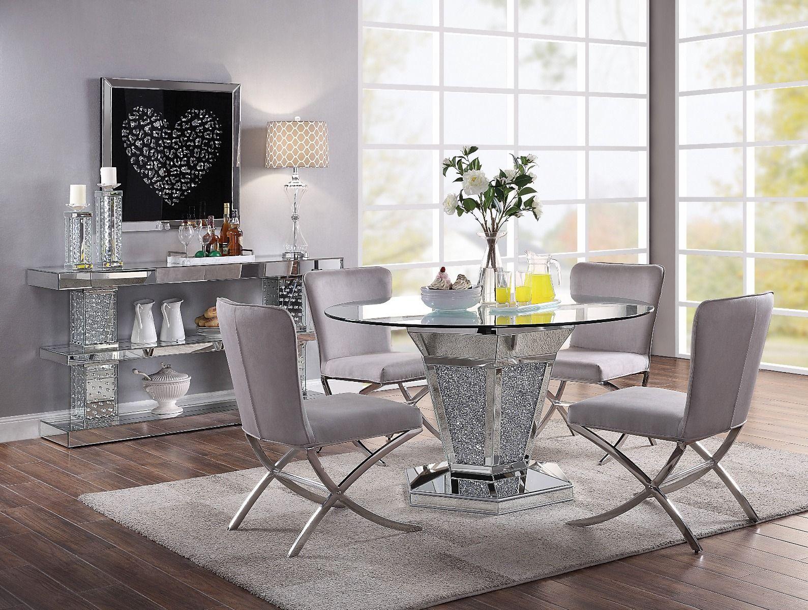 Nie Gray Modern Dinette Set, Modern Dining Room Sets